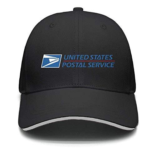 Salahe Mens Womens Black Fashion Adjustable Golf Hat, Black-8, One Size from Salahe