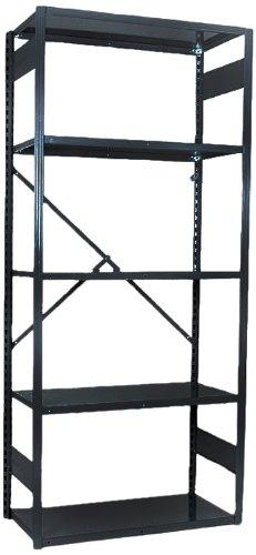 Equipto 665W5S V-Grip 18-Gauge Heavy Duty Steel Open Shelf Starter Unit with 5 Shelves, 450 lbs Shelf Capacity, 48