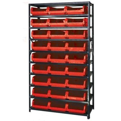 Magnum Bin Unit with 10 Shelves & 27 Red Bins 19-3/4