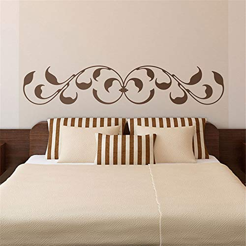 Emeas Decor Stickers Walls Art Words Sayings Removable Lettering Bed Headboard Montreal. Classic Design with Leaves and Baroque Inspired Finishes BedHead (Montreal Band Baroque)