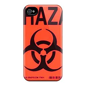 Scratch Protection Cell-phone Hard Cover For Apple Iphone 4/4s (BZQ1949znOo) Customized Attractive Biohazard Band Pictures