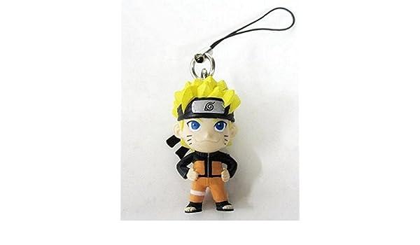 "Bandai Naruto Phone Charm with Green Strap ~1/"" Minato Namikaze"