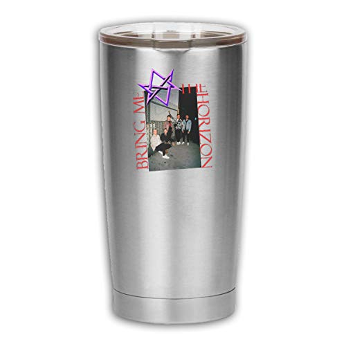 Horizon Glass Tumbler - RongFaClothing Unisex Bring Me The Horizon Music Band Stainless Steel Insulation Double Wall 18.6oz Coffee Car Thermos Cup Tumbler with Clear Lid