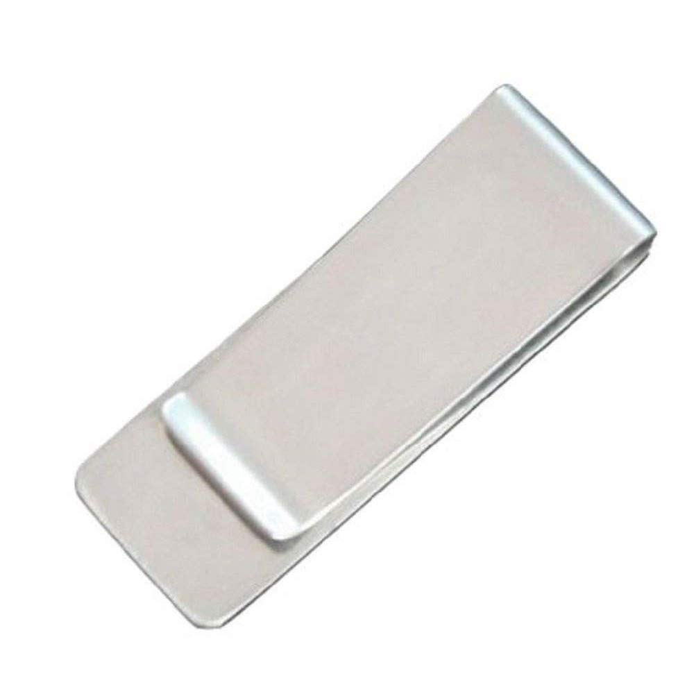 Tcplyn Mini Stainless Steel Money Clip Portable Cash Clamp Paper Clip Money Holder for Storage Money Use 1PCS Silver