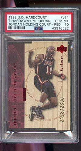 - 1998-99 Upper Deck Hardcourt Holding Court Tim Hardaway Michael Jordan 2128/2300 Insert PSA 10 Graded NBA Basketball Card