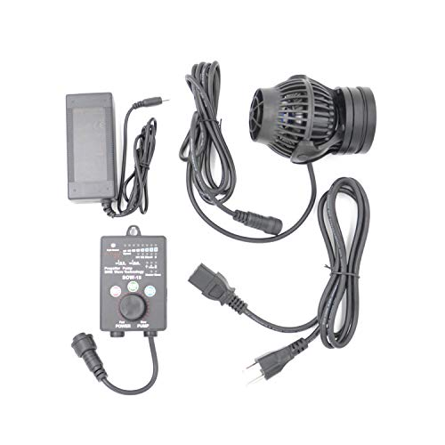 (Jebao SOW Wave Maker Flow Pump with Controller for Marine Reef Aquarium (SOW-15))