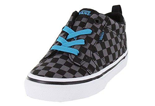Vans Boy's Bishop Slip On  Black/Black Skateboarding Shoes
