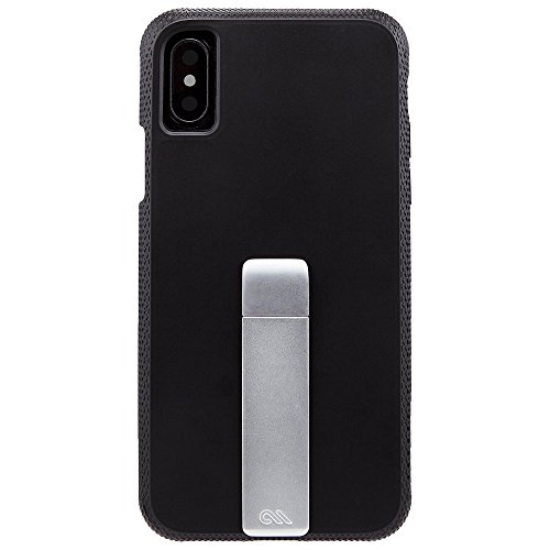 Case-mate Tough support durable une fois pièce Ultra fin renforcé d'angle Design Coque avec béquille en métal pour iPhone 8–Noir/Argent