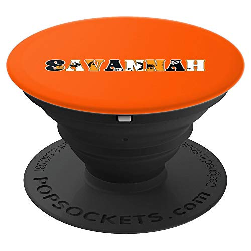 Savannah Spooky Name Halloween PopSockets Grip and Stand for Phones and Tablets -