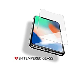 iCarez [Tempered Glass] Screen Protector for iPhone X iPhone Xs 5.8-inch Easy to Install [ 2-Pack 0.33MM 9H 2.5D] - 2017