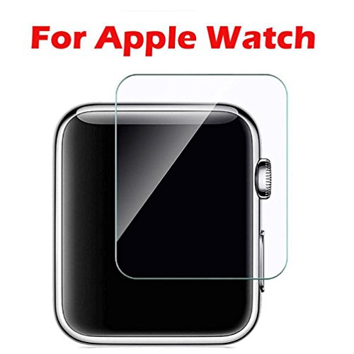 Owill 3-Pack Tempered Glass Screen Protector for Apple Watch Series 1/2/3 42mm/38mm (Clear, 42mm)