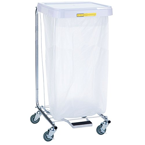R & B Wire 692 Single Medium Duty Hamper with Foot Pedal by R&B Wire Products