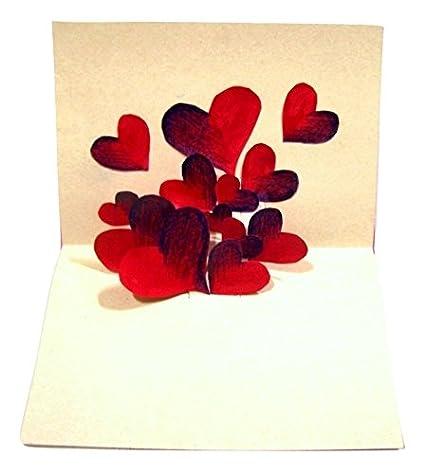 Ocean cards handmade love card yellow flowers and red hearts ocean cards handmade love card yellow flowers and red hearts greeting card pink 15 m4hsunfo