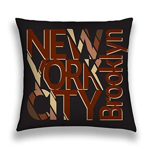 wuhandeshanbao Throw Pillow Cover Pillowcase New York City New York City Typography Mans Printing Design ny Brooklyn Original wear Sofa Home Decorative Cushion Case 18