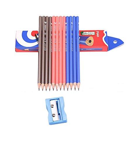 Wooden Triangular Pencils With a Mini Pencil Sharpener, Pre-