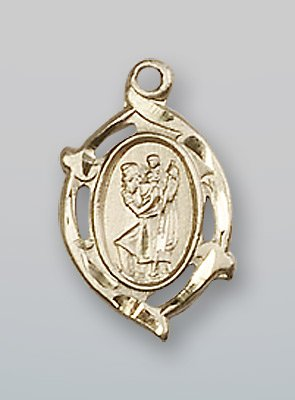 14 ktゴールドセントクリストファーメダル B0741CLMLB