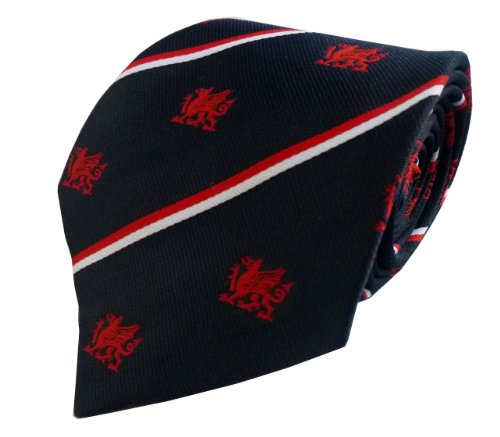 - Wales Welsh Dragon Striped Tie