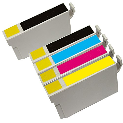 Inktoneram Remanufactured Ink Cartridges High Capacity Replacement for 126 (2x Black, Cyan, Magenta, Yellow, 5-Pack)