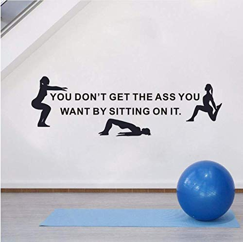 ZHUWall Culo Agradable Cita Etiqueta De La Pared Gym Inspiration ...