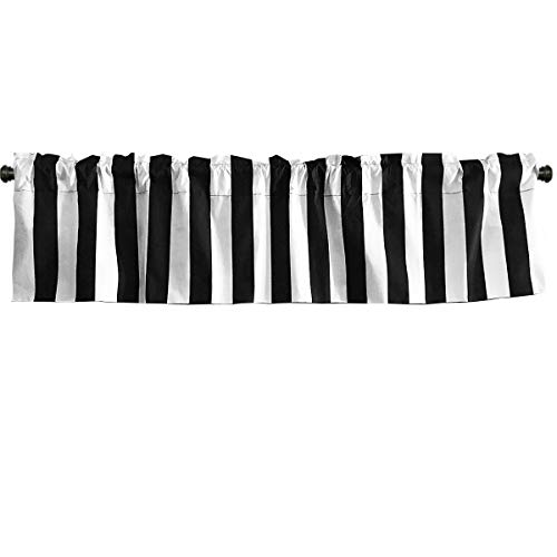 (lovemyfabric Cotton Blend 2 Inch Bold Striped Print Kitchen Curtain Valance Window Treatment/Window decor (58
