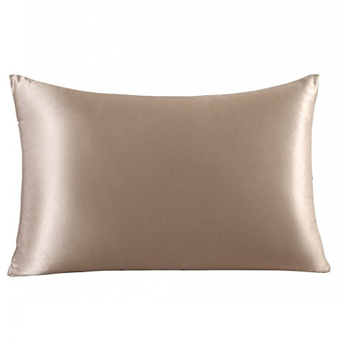 ZIMASILK 100% Mulberry Silk Pillowcase for Hair and Skin Health,Both Side 19 Momme Silk,1pc (Toddler14''X20'', Taupe)