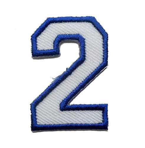 【ノーブランド品】アイロンワッペン ミニワッペン ワッペン 刺繍ワッペン 数字 2 アイロンで貼れるワッペンの商品画像