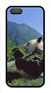 iPhone 5 5S Case Cute Panda TPU Custom iPhone 5 5S Case Cover Black
