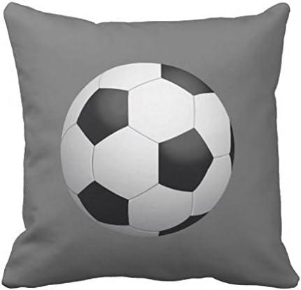Manta fundas de almohada de 18 x 18 lienzo balón de fútbol funda ...