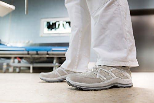 Haix Black Eagle Air Ws Low/Grey-White Frauenmodell: Ideal für den Praxis- und Krankenhausbereich, inkl. Waschbeutel und