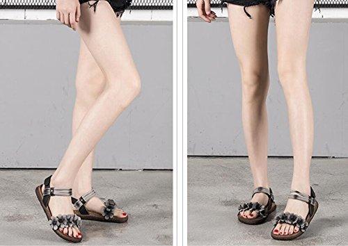 Cuir Chaussures coréenne Nouvelles des Sport Femmes de Simple GRRONG Sandales Version 2018 en Orteil de d'été l'été Chaussures Ouvert de fwqWHxPg