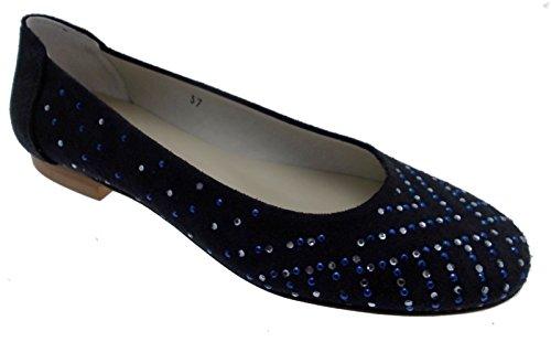 p Clair Suède Bleu Ballerine R 1492 Calzaturificio Paperina Uqwg10x5