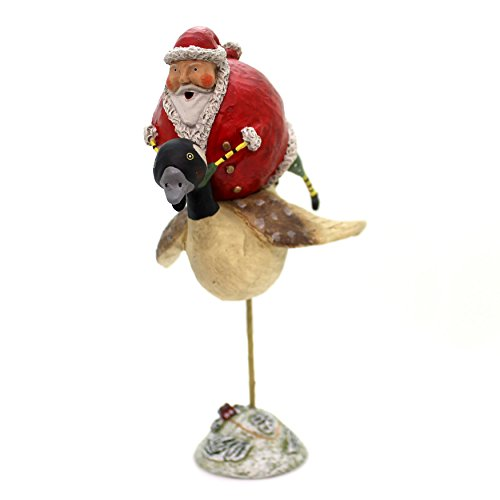Lori Mitchell SANTA S GOOSE CHASE Polyresin Holiday Whimsical 11037