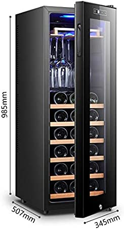 YFGQBCP Inicio termostato refrigerador de Vino pequeño Bar de Hielo Incorporado o Independiente del refrigerador de Vino Chiller táctil de Control bajo la vibración de bajo Ruido