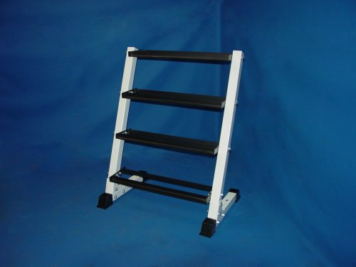 4 Tier 24'' Dumbbell Rack Each Layer Hold 2-3 Pair Dumbbells