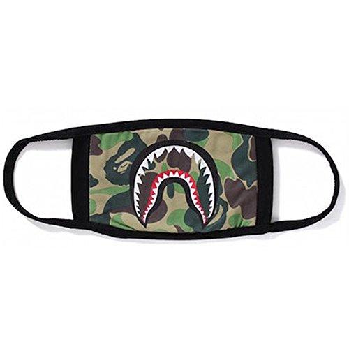 2 Pack Camping First Aid Kits Bape Black Black Shark Face Mask