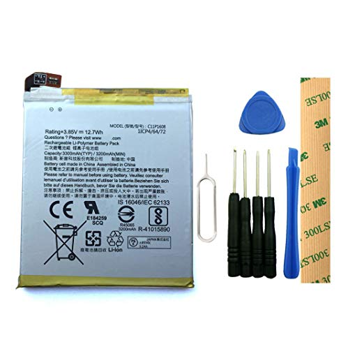 for Verizon ASUS ZenFone AR A002A ZS571KL Replacement Battery C11P1608 Free Adhesive Tool