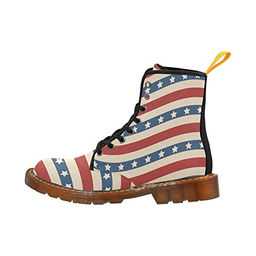 Stars Women Boots Shoes Story Martin Stripes American Lace For and Up Flag D wOIZfqf