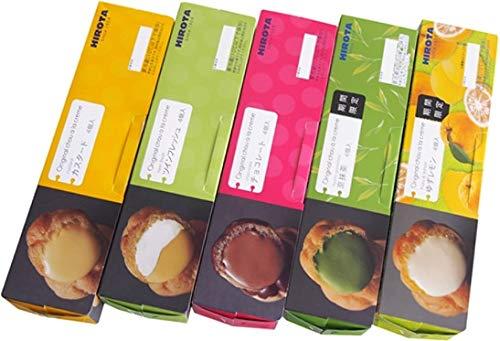 Hirota 5 Box Set 1 caja de crema de hojaldre 4 pedazos de cajas X5: Amazon.es: Alimentación y bebidas