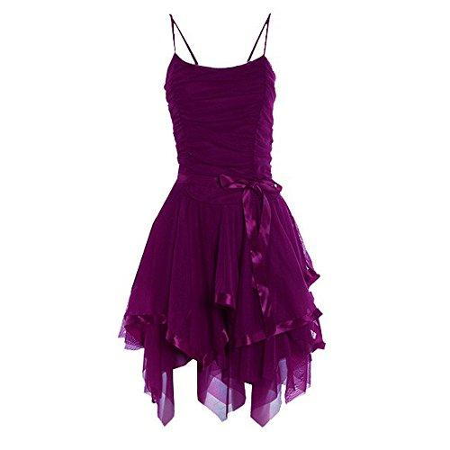 Damen Riemchen Prom ParteiKleid EUR Größe 3642 Lila 9D77Bjw1MN ...