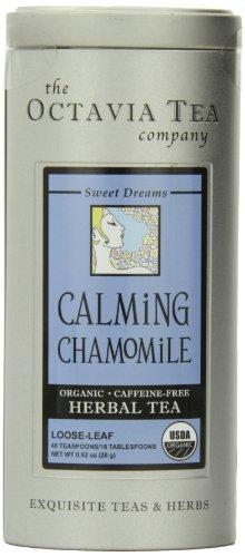 Octavia Tea Calming Chamomile (Organic, Caffeine-Free Herbal Tea), Loose Tea, 0.92-Ounce Tins (Pack of 2)