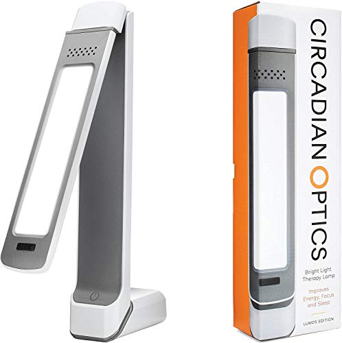 Circadian Optics Light Therapy Lamp. UV-Free LED Happy Mood Lamps for Seasonal Sunlight Changes. Full Spectrum Sun Lights for Work from Home. Lumos (White)