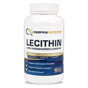 Phosphatidyl Choline Supplement in Lecithin - 100 Softgels