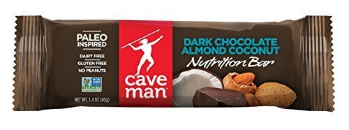 Caveman Foods All Natural Paleo Bars Dark Chocolate Almond Coconut 15 (1.4 oz.) bars per box (a) - 2PC - 3PC by Caveman Foods