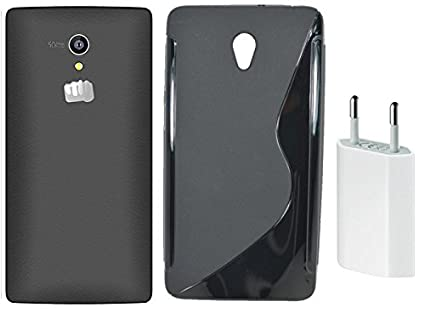 new styles 6d9c8 b1122 S Case Grip Back Cover For Micromax Canvas Fire 4G Q411: Amazon.in ...