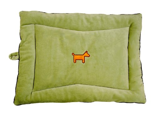 Simply Fido 28 by 20 by 3-Inch Crate Mat for Pets, Medium, Green - Colored Pet Crate Pad