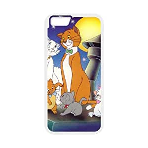 iPhone 6 Plus 5.5 Inch Cell Phone Case Covers White AristoCats O1660061