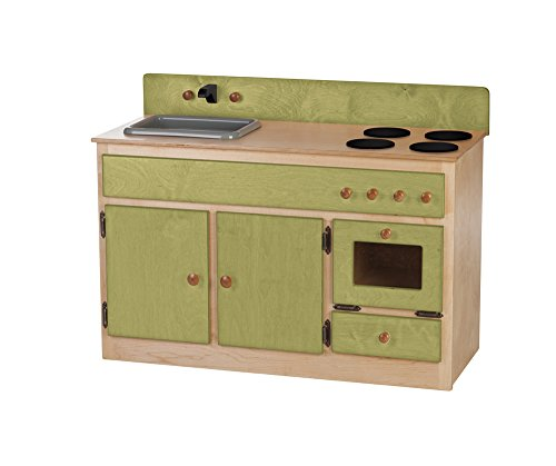 Furniture Barn USA Children's Play Sink-Stove Combo -Heartland Collection-Natural and Green Color