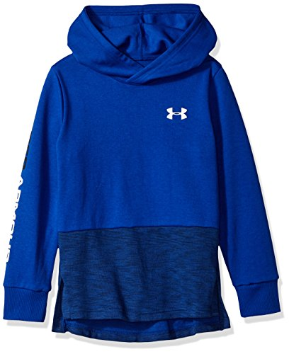 Under Armour Boys Double Knit Hoodie, Royal (400)/White, Youth X-Large