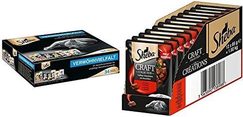 Sheba Verwöhnvielfalt-Paket – Abwechslungsreiches Katzenfutter mit Sheba Soup, Fresh & Fine und cremigen Snacks