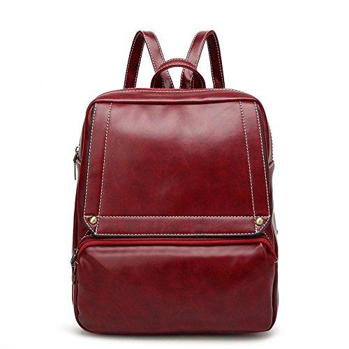 Aoligei Mode loisirs mode Dame voyage sac à dos étudiant rétro sac à dos D